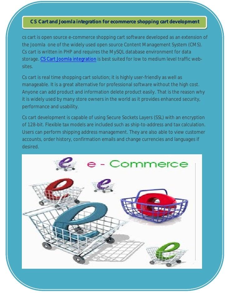 CS Cart and Joomla integration for ecommerce shopping cart developmentcs cart is open source e-commerce shopping cart soft...