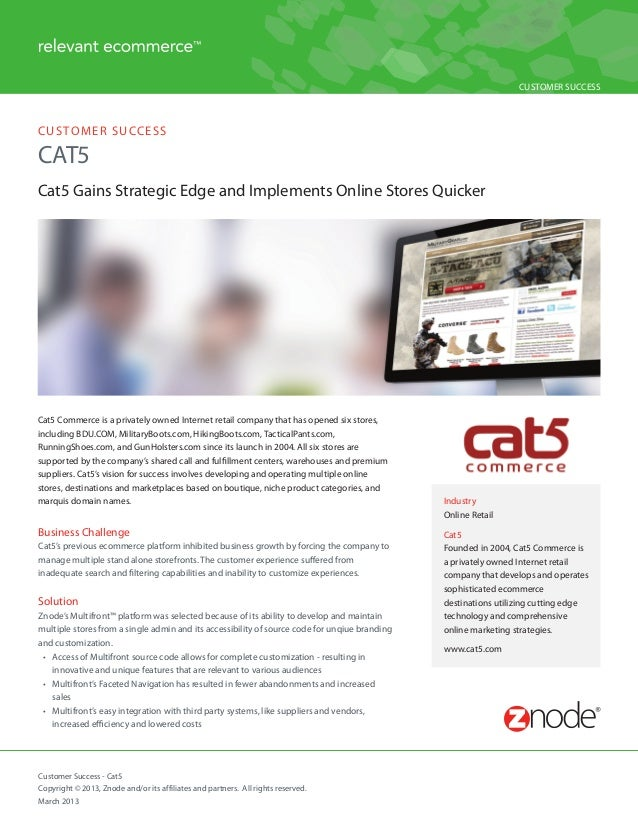 Ecommerce Case Study - Cat5 Commerce