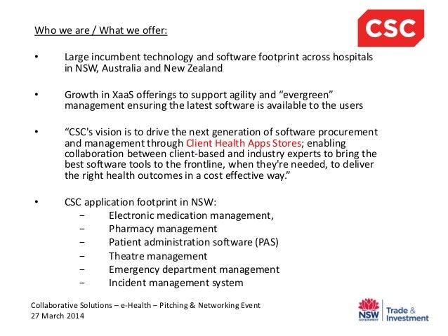 Collaborative Solutions eHealth Event - CSC Australia