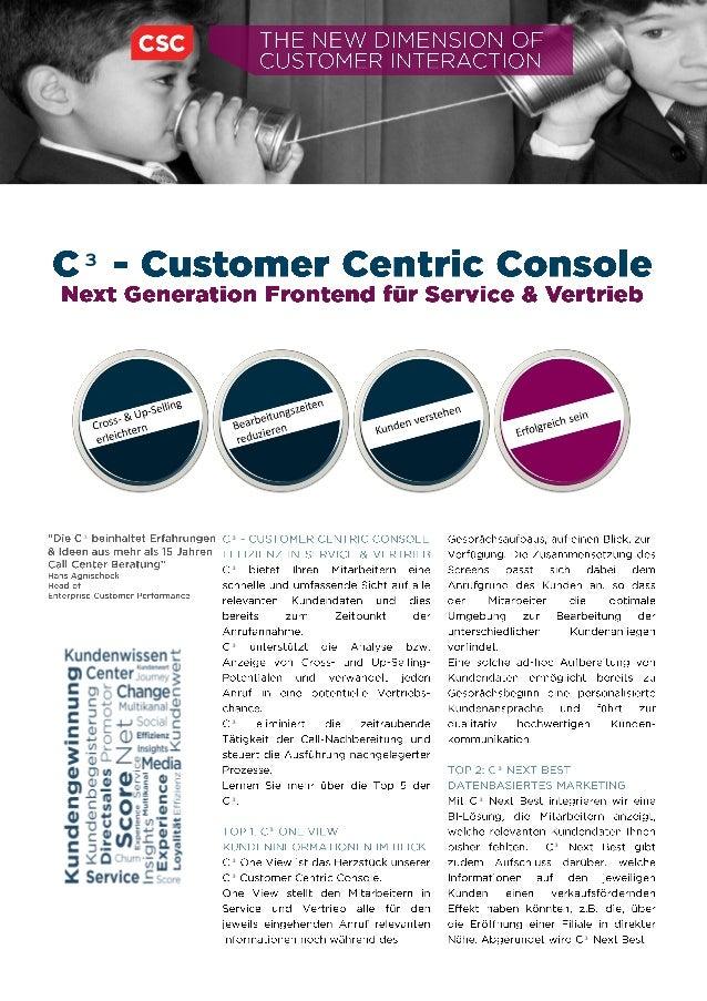 CSC - Customer centric console