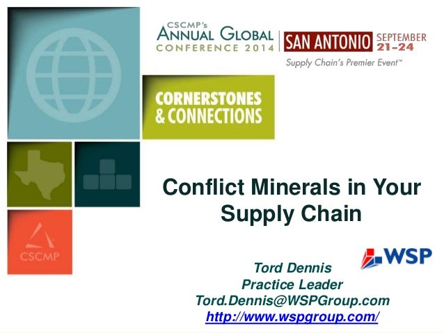 Conflict Minerals Conflict Minerals in Your