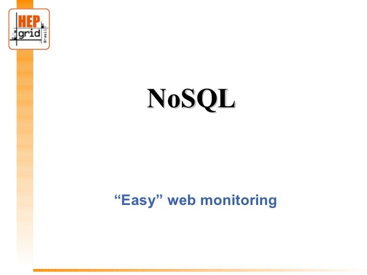 "NoSQL""Easy"" web monitoring"