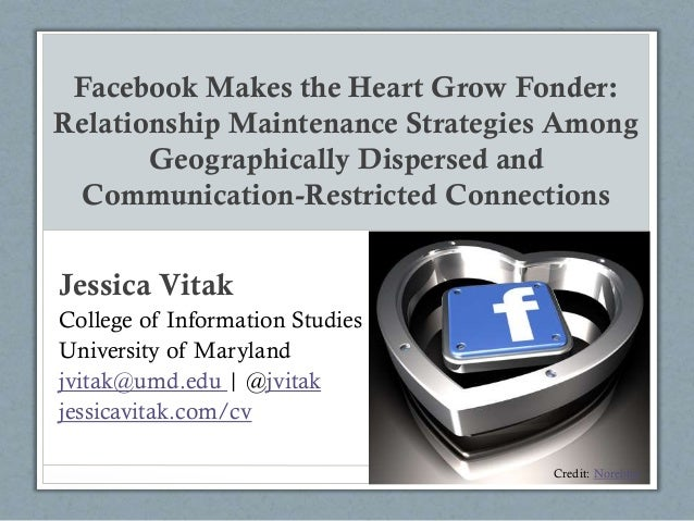#cscw2014 -- Facebook Makes the Heart Grow Fonder: Relationship Maintenance Strategies Among Geographically Dispersed and Communication-Restricted Connections