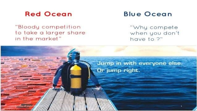 "a red or blue ocean strategy marketing essay ""the key goals of the blue ocean strategy are finding the right marketing opportunity and making the competition irrelevant"" an example of a successful execution of a blue ocean strategy is."