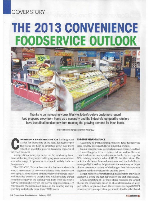 Csd 0213 convenience foodservice outlook