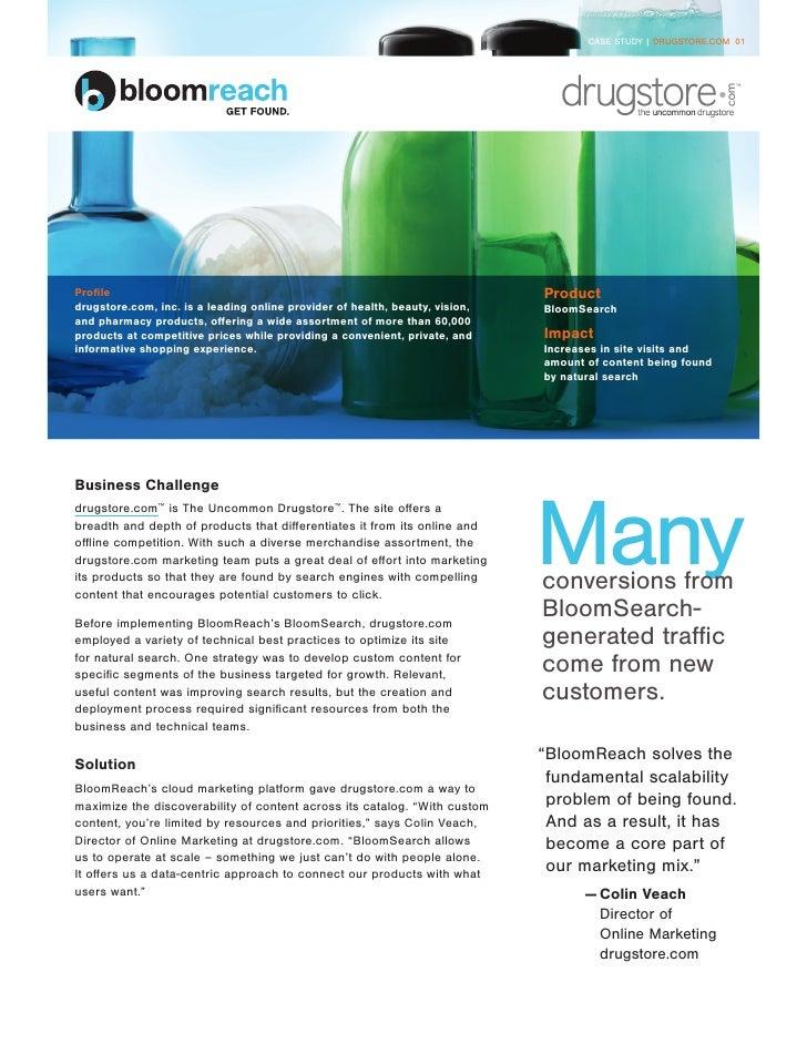 CASE STUDY | DRUGSTORE.COM 01Profile                                                                       Productdrugstor...
