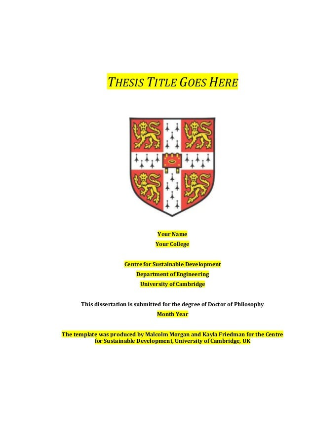 Thesis And Dissertation Titles