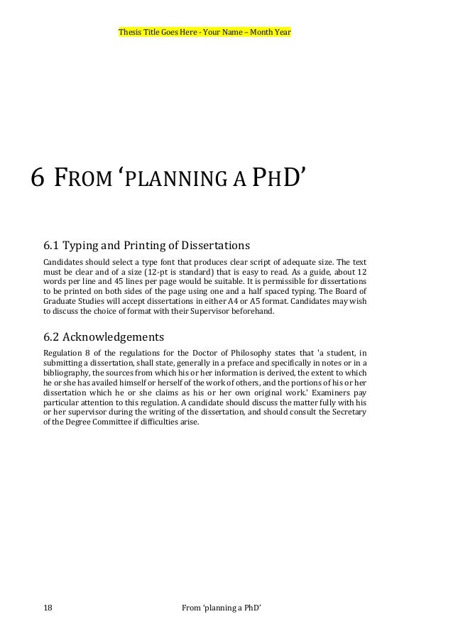 Dissertation Proposal Networking