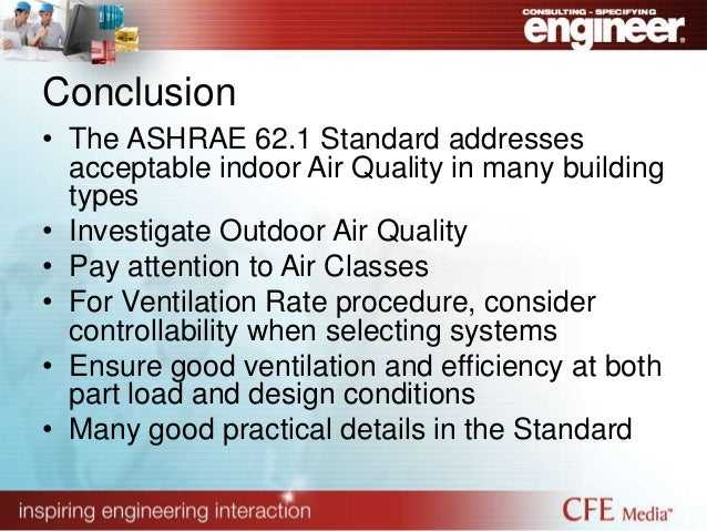 Hvac ashrae 62 1 62 2 and air movement for Indoor design conditions ashrae