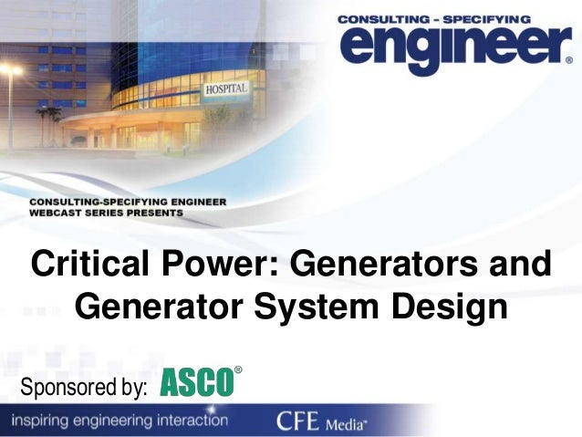 Critical Power: Generators and Generator System Design