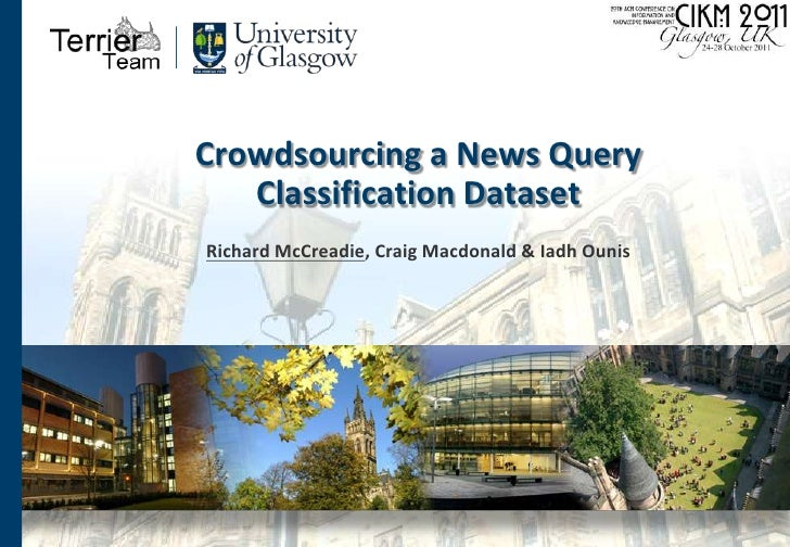 Crowdsourcing a News Query Classification Dataset