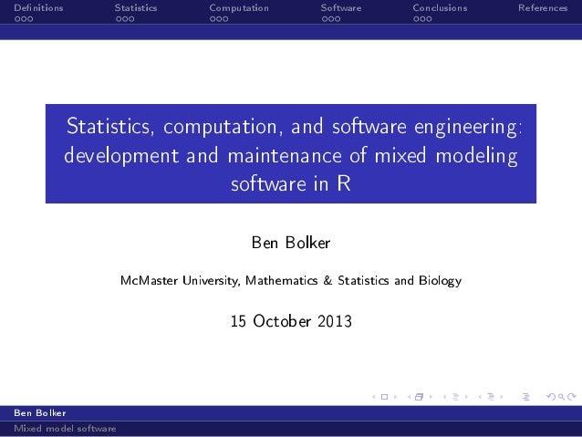 computational science & engineering seminar, 16 oct 2013