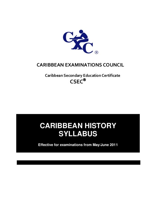 caribbean studies syllabus At the back of the syllabus (pgs 42-44) there are a number of broad topics that can be used to explore in the school base assessment we will write a custom essay sample on caribbean studies ia guide cape.