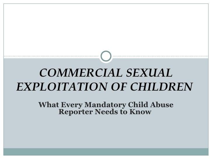 Human Trafficking Mandatory Reporter Training