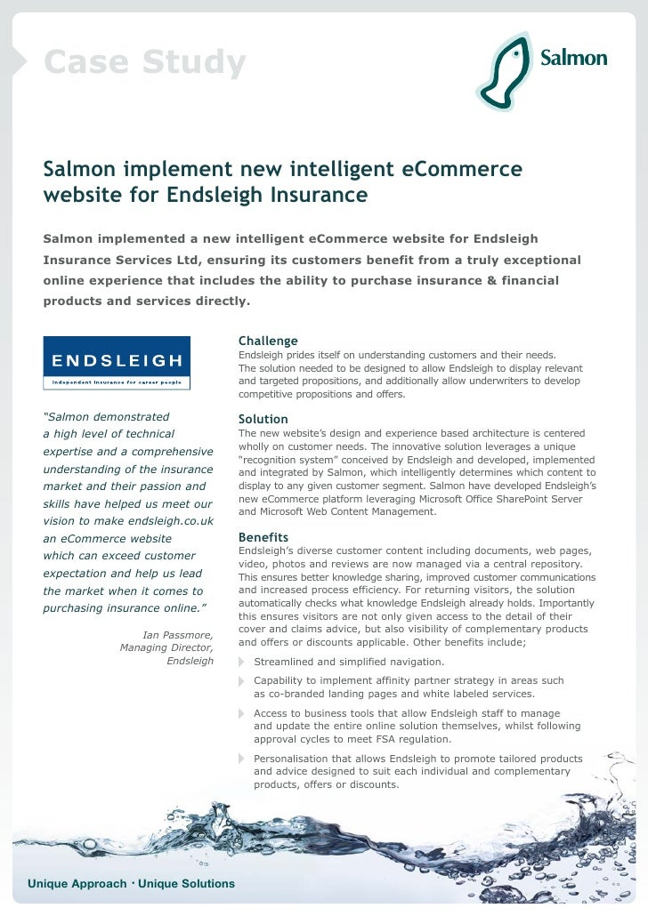 Case Study     Salmon implement new intelligent eCommerce   website for Endsleigh Insurance   Salmon implemented a new int...