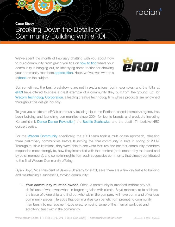 Case Study  Breaking Down the Details of Community Building with eROI   We've spent the month of February chatting with yo...