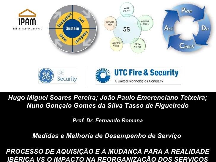 Hugo Miguel Soares Pereira; João Paulo Emerenciano Teixeira; Nuno Gonçalo Gomes da Silva Tasso de Figueiredo Prof. Dr. Fer...