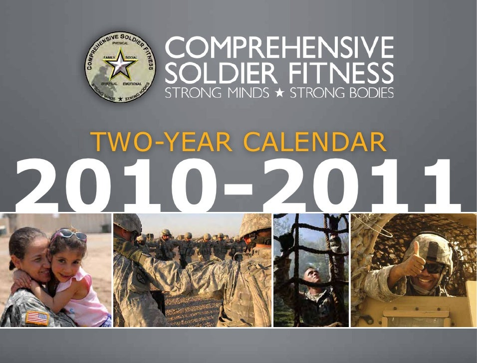 Comprehensive Soldier Fitness Calendar