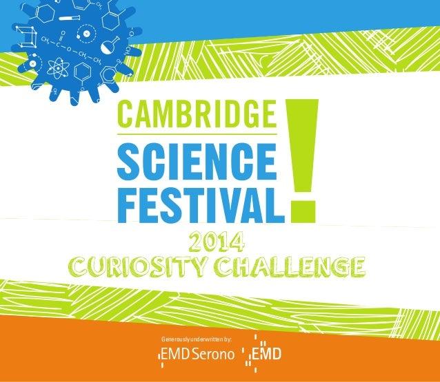 Curiosity Challenge Book 2014 - Cambridge Science Festival