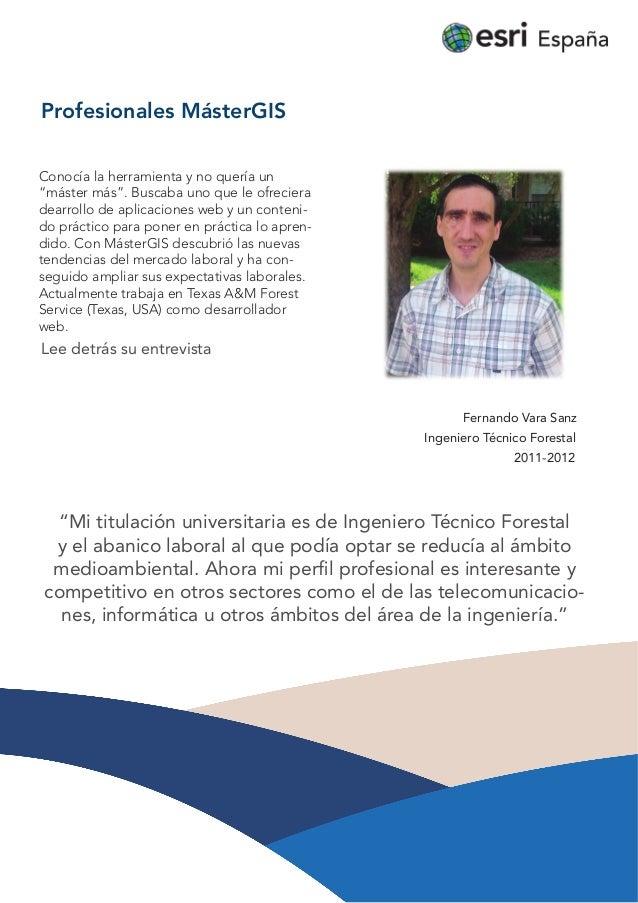 Profesionales MásterGIS: Fernando Vara