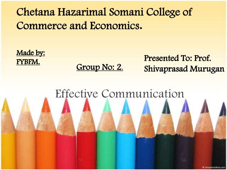 Communication skills ppt for college students 4od