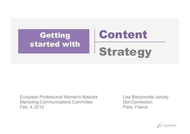 Getting Started with Content Strategy