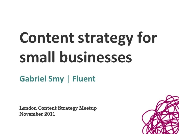 Content Strategy for Small Businesses
