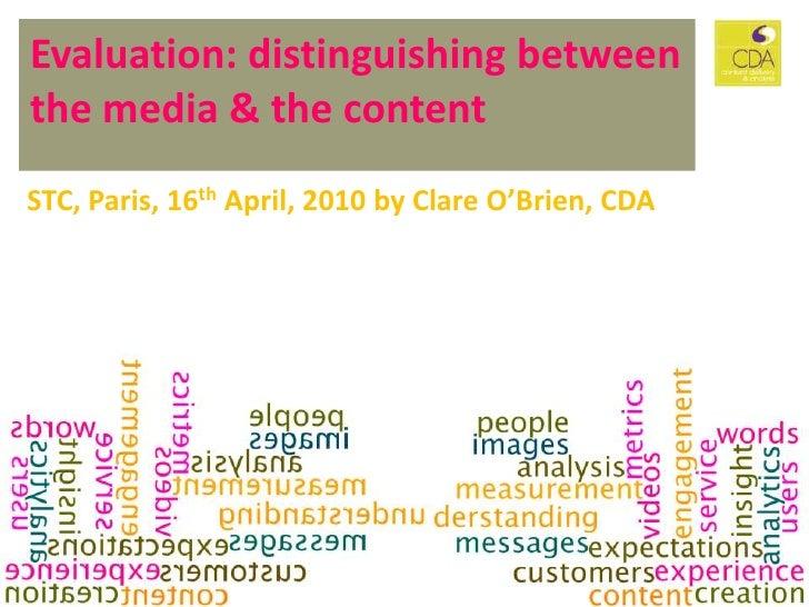 Evaluating Content: CS Forum 2010