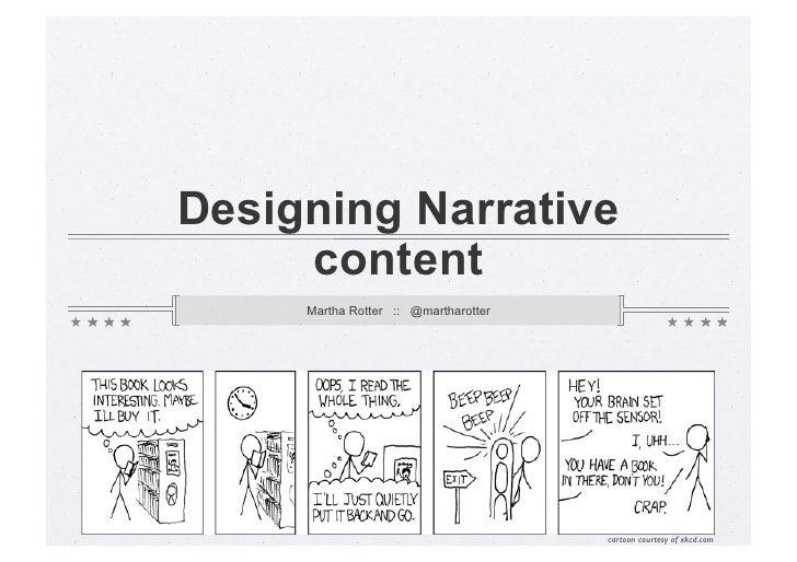 Designing Narrative Content Workshop