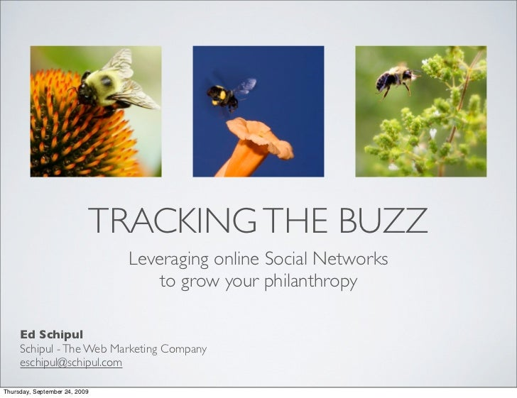 Social Media and philanthropy - tracking the buzz, making connections