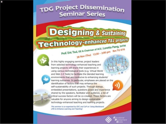 Critical Success Factors for designing & sustaining technology-enhanced T&L projects
