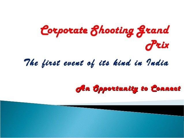 Real Estate Corner at the Corporate Shooting Grand Prix