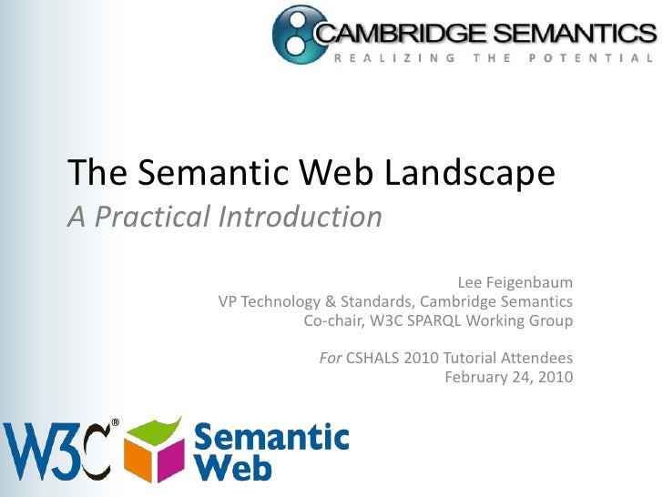 CSHALS 2010 W3C Semanic Web Tutorial