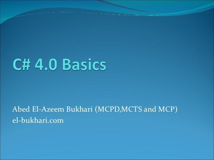 Csharp4 basics