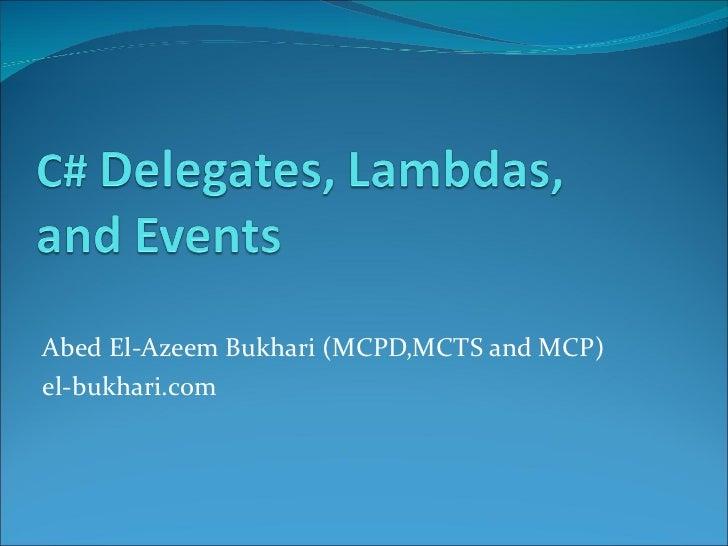 Csharp4 delegates lambda_and_events