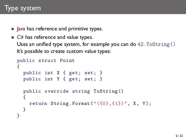 C Java Language Comparison