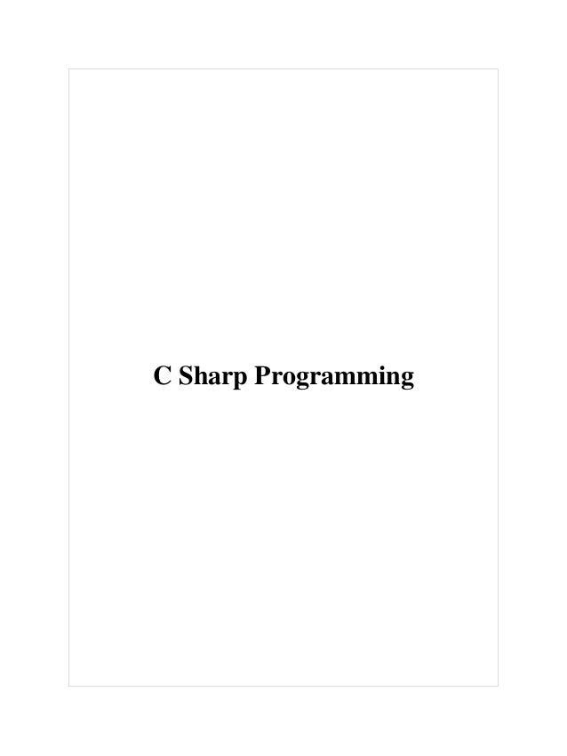 C sharp programming[1]