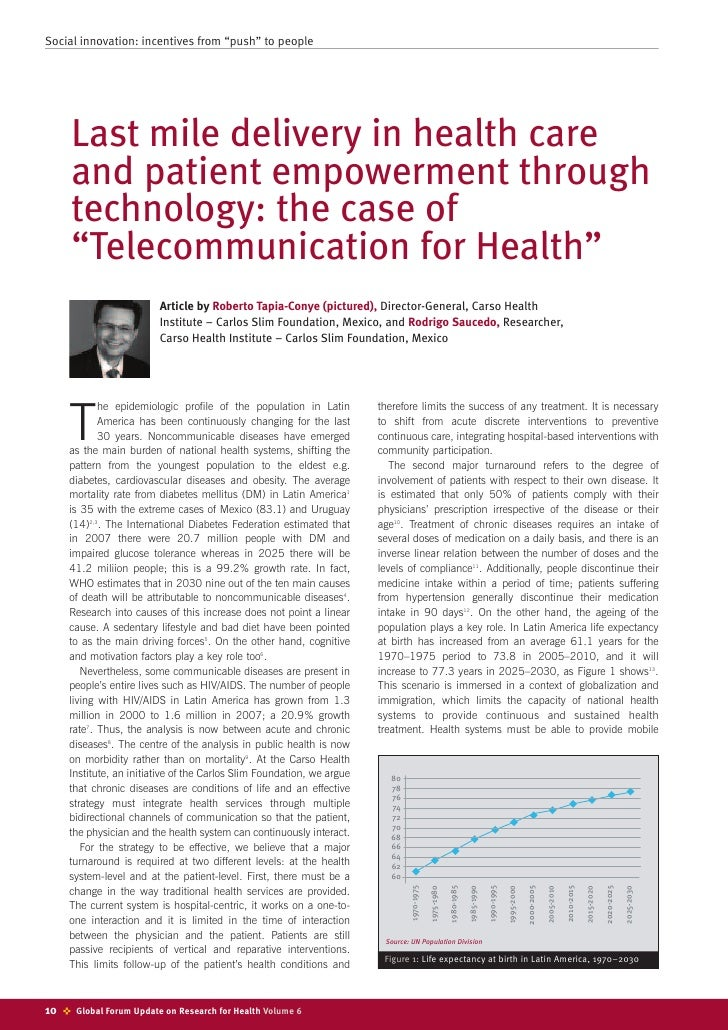 """Social innovation: incentives from """"push"""" to people           Last mile delivery in health care       and patient empowerm..."""