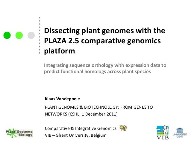Dissecting plant genomes with thePLAZA 2.5 comparative genomicsplatformIntegrating sequence orthology with expression data...