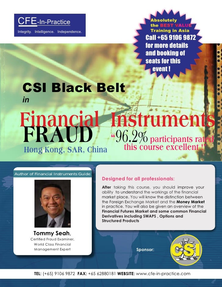 Financial Instruments Masterclass