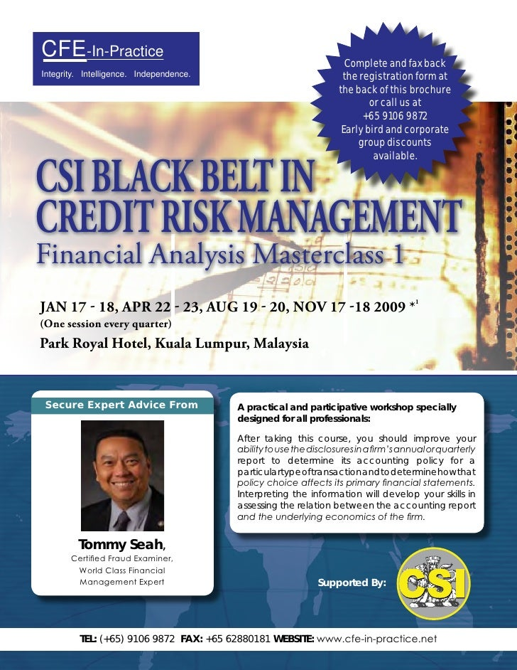 CSI Black BELT in Credit Risk Management