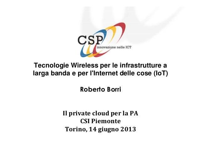 Private Cloud per le amministrazioni piemontesi - Borri