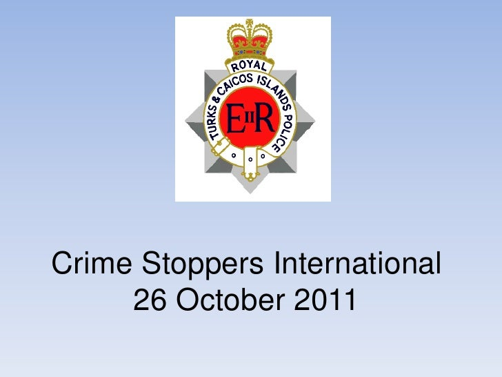 Crime Stoppers International     26 October 2011