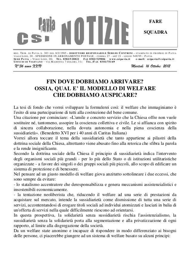 Csi pavia notizie n. 36 del 16.10.12