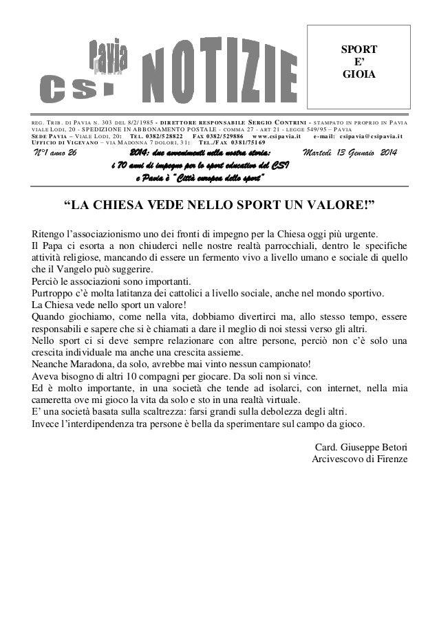 Csi pavia notizie_n_01_del_14.01.14