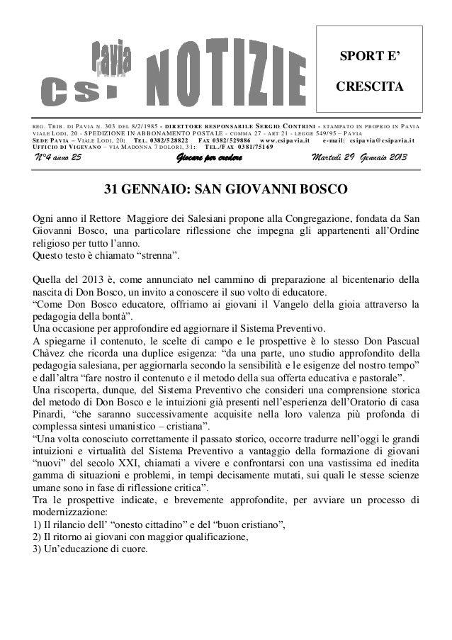 Csi pavia notizie_n_04_del_29.01.13