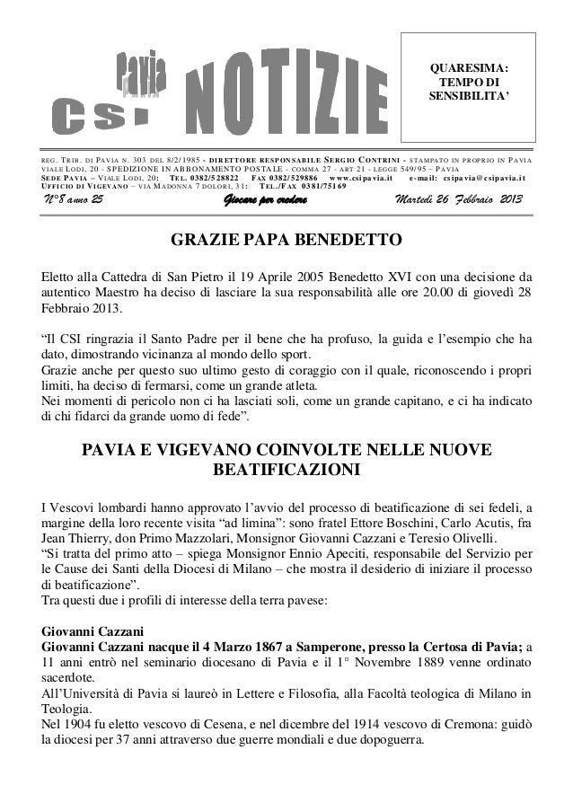 Csi pavia notizie_n_08_del_26.02.13