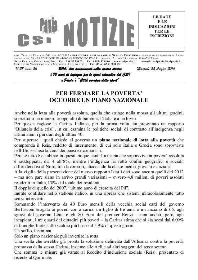Csi pavia notizie_n_28_del_22.07.14
