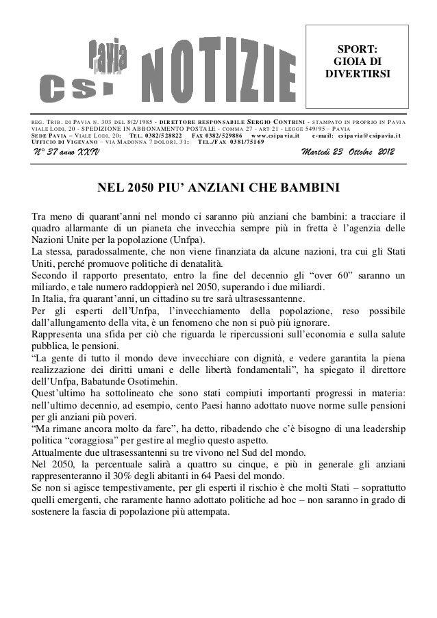 Csi pavia notizie_n_37_del_23.10.12