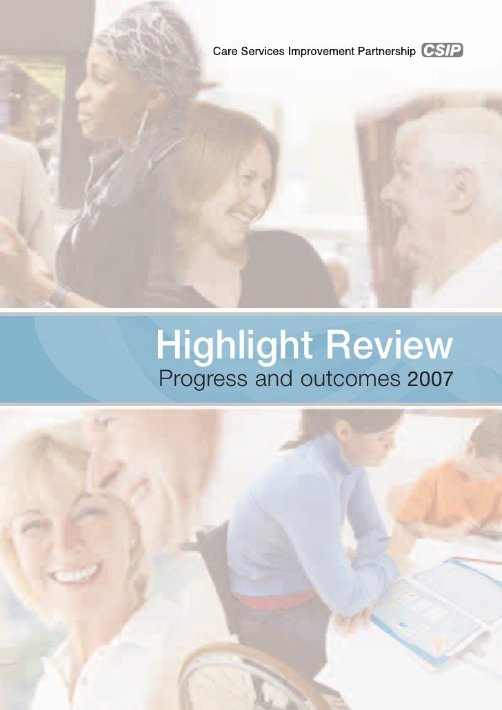 Highlight Review Progress and outcomes 2007